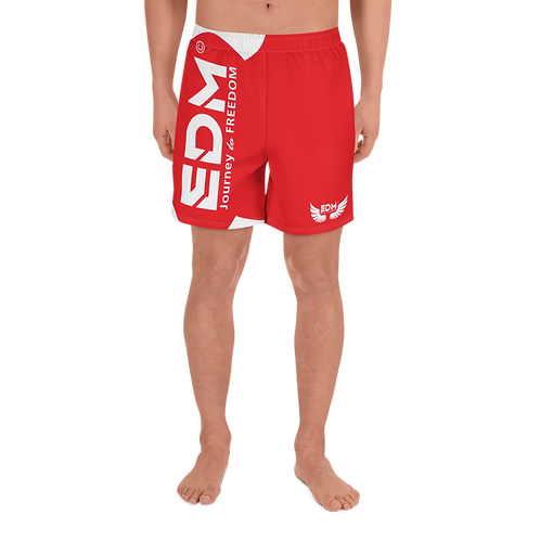Men's Long Shorts - EDM J to F White - Red