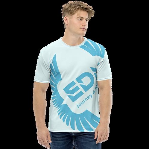Men's T-shirt Ice Blue - EDM Journey to Freedom Large Print - Blue