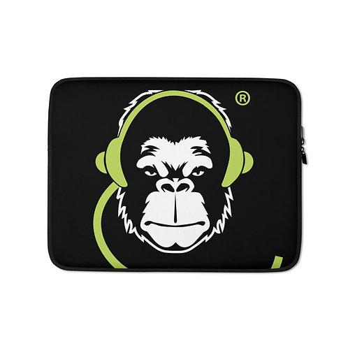 Laptop Case Zip Up - GS Music Academy Ape DJ - Black