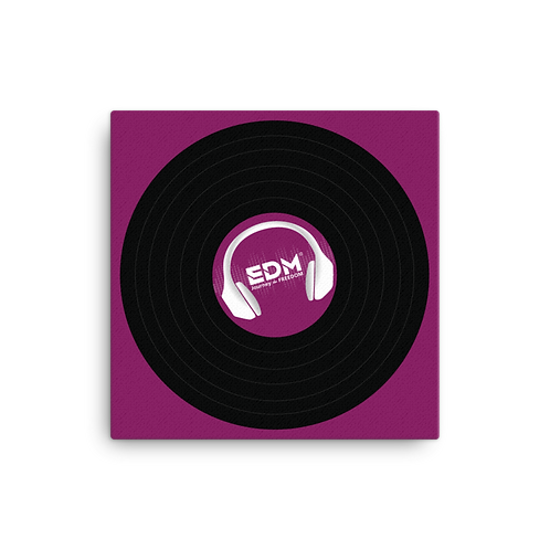 Square Canvas 12x12 / 16x16  - EDM J to F Record - Plum