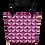 Thumbnail: Beach Bag - EDM J to F Tye Dye Logo Pattern - Plum