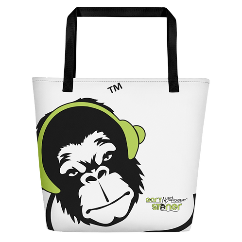 Beach Bag - GS Music Academy Ape DJ Green - White
