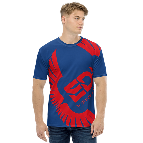 Men's T-shirt Royal Blue - EDM Journey to Freedom Large Print - Red