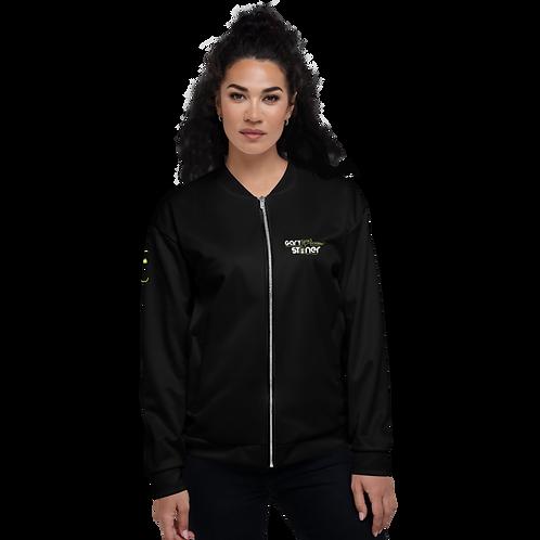 Womens Unisex Fit Bomber Jacket - GS Music Academy - Black