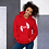Thumbnail: Women's Unisex Hoodie EDM J to F Logo Print White - Various