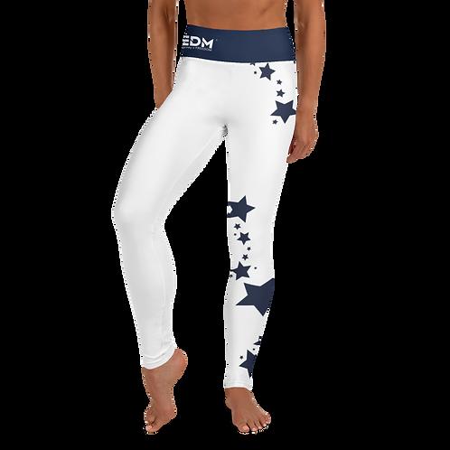Women's Leggings Navy Star - EDM J to F White