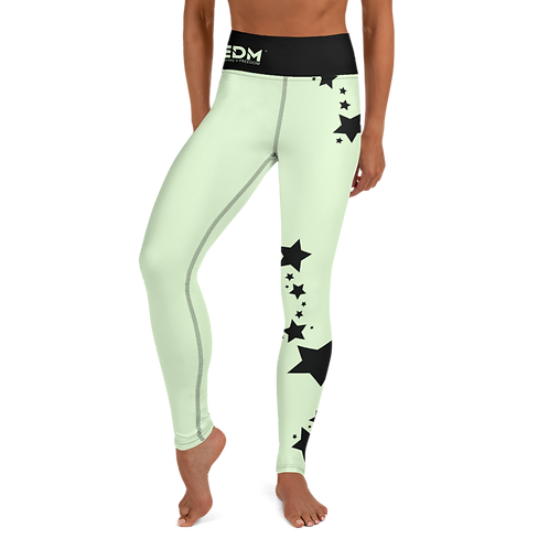 Women's Leggings Black Star - EDM J to F Mint