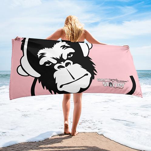 Beach Towel / Towel - GS Music Academy Ape DJ White - Pink