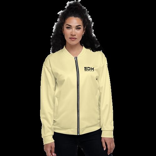 Women's Unisex Fit Bomber Jacket - EDM Journey to Freedom Lemon / Black