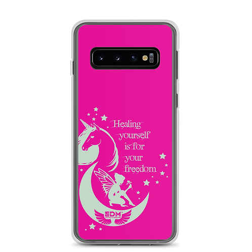 Samsung Phone Case - Unicorn Fairy Sage - Pink