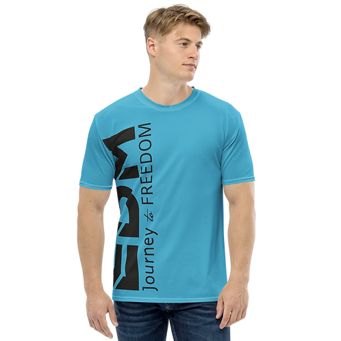 Men's T-shirt Blue - EDM Journey to Freedom Large Print - Black