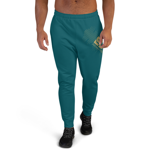 Men's Joggers - EDM J to F Sound Bars Gold - Dark Teal