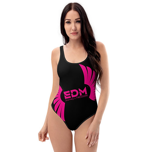 EDM Journey to Freedom Swimsuit - Hot Pink / Black