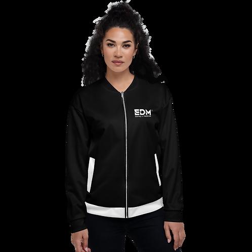 Womens Unisex Fit Bomber Jacket - EDM Journey to Freedom Black / White