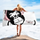 Thumbnail: Beach Towel / Towel - GS Music Academy Ape DJ Pink - White