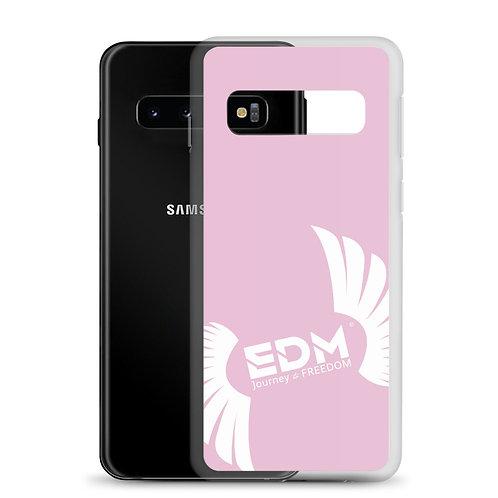 Samsung Case Pink - EDM Journey to Freedom Print - White