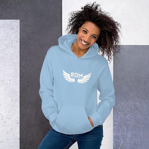 Women's Unisex Hoodie EDM J to F Wings Logo Print White - Various
