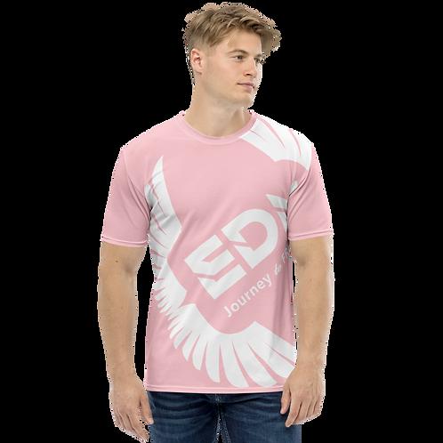 Men's T-shirt Pink - EDM Journey to Freedom Large Print - White