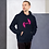 Thumbnail: Mens Unisex Hoodie EDM J to F Logo Print Hot Pink - Various
