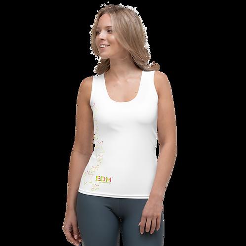 Women's Vest - EDM J to F Rainbow Star - White