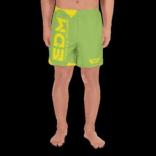 Men's Long Shorts - EDM J to F Yellow - Green