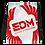 Thumbnail: White Drawstring Bag - EDM Journey to Freedom Large Print - Red