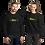 Thumbnail: Women's Unisex Sweatshirt EDM J to F Sound bars Multi - Black / Navy