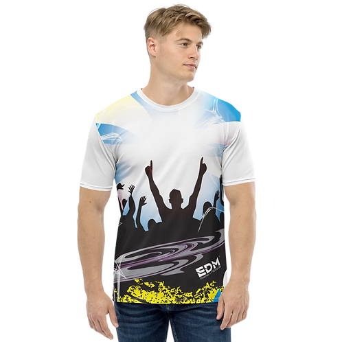 Men's T-shirt - EDM J to F Crowd - White/Multi