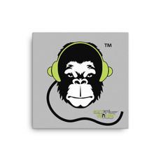 Square Canvas 12x12/16x16 - GS Music Academy Ape DJ - Grey