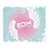 Thumbnail: Fleece Throw Blanket -50 x 60cm - EDM J to F Swirl Design - Pink / Blue / White