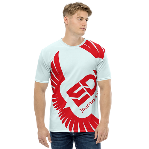 Men's T-shirt Ice Blue - EDM Journey to Freedom Large Print - Red