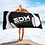 Thumbnail: Beach / Bath Towel - EDM J to F Headphones White - Black