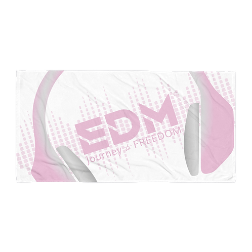 Beach Towel Pink - EDM J to F Headphones Pink / Grey - White