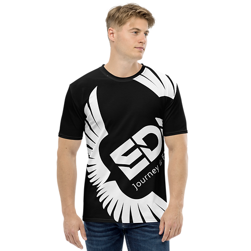 Men's T-shirt Black - EDM Journey to Freedom Large Print - White
