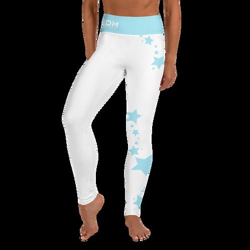 Women's Leggings Sky Blue Star - EDM J to F White