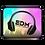 "Thumbnail: Laptop Sleeve- 13"", 15"" - EDM J to F Headphone Sound Bars Black-Tye Dye Brighter"