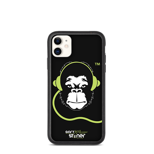 Biodegradable iphone case - GS Music Academy Ape DJ - Black