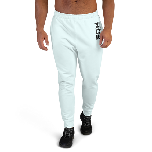 Ice Blue Men's Joggers - EDM Journey to Freedom Small Print - Black