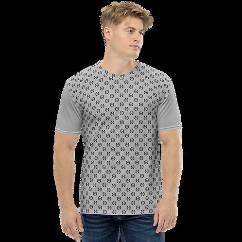 Men's T-shirt Grey - EDM Journey to Freedom Small Pattern Print - Black