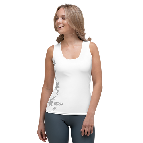 Women's Vest - EDM J to F Grey Star - White
