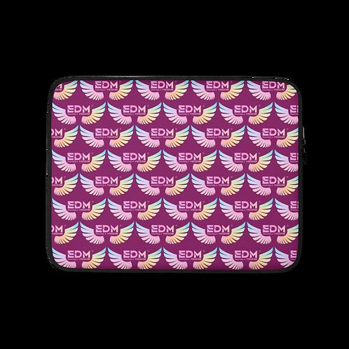 "Laptop Sleeve 13""/15"" - EDM J to F Tye Dye Logo Pattern - Plum"