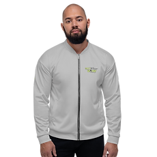 Mens Unisex Fit Bomber Jacket - GS Music Academy - Grey