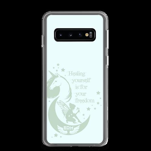 Samsung Phone Case - Unicorn Fairy Sage - Ice Blue