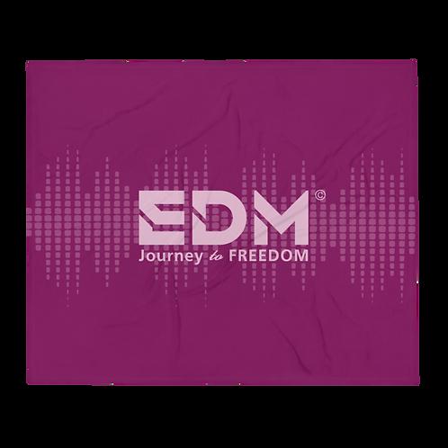 Fleece Throw Blanket - 50 x 60cm - EDM J to F Sound bars - Plum / Pink