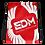 Thumbnail: Red Drawstring Bag - EDM Journey to Freedom Large Print - White