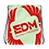 Thumbnail: Mint Drawstring Bag - EDM Journey to Freedom Large Print - Red
