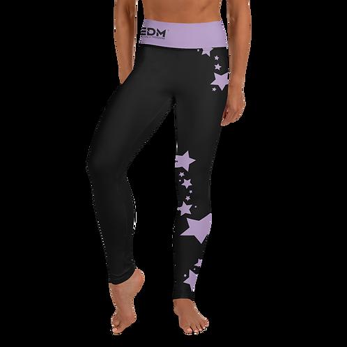 Women's Leggings Purple Star - EDM J to F Black