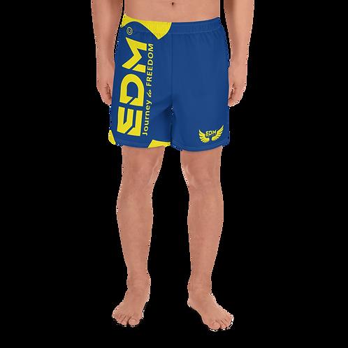 Men's Long Shorts - EDM J to F Yellow - Royal Blue
