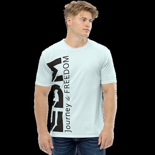 Men's T-shirt Ice Blue - EDM Journey to Freedom Large Print - Black