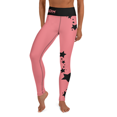 Women's Leggings Black Star - EDM J to F Coral